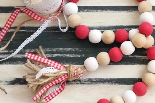 Christmas Wood Bead DIY Kit