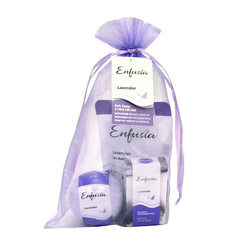 Salt, Soap, & Mini Soap Gift Set - Lavender