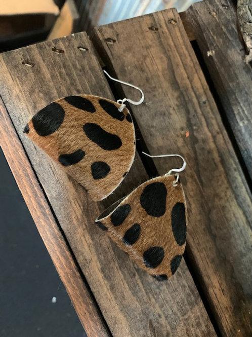 Cheetah Leather Earrings