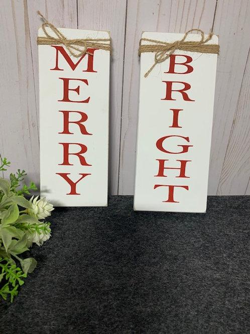 Merry & Bright Sign Set