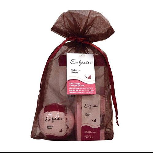 Salt, Soap & Mini Soap Gift Set - Winter Rose
