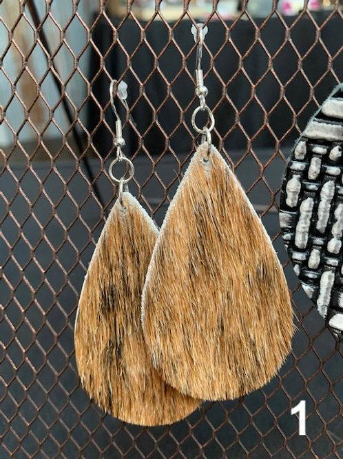 Cowhide Leather Earrings