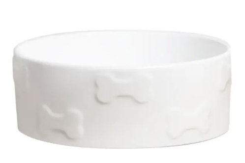 Manor White Pet Bowl
