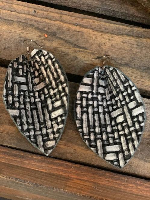 Leather Weave Earrings