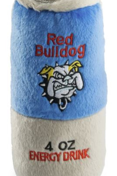 Red Bull Dog Energy Drink Plush Pet Toy