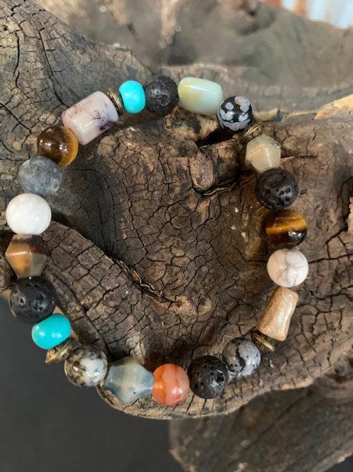 Lava Stone & Semi Precious Stones