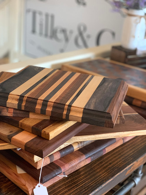 Wood Cutting Board - Oak & Walnut