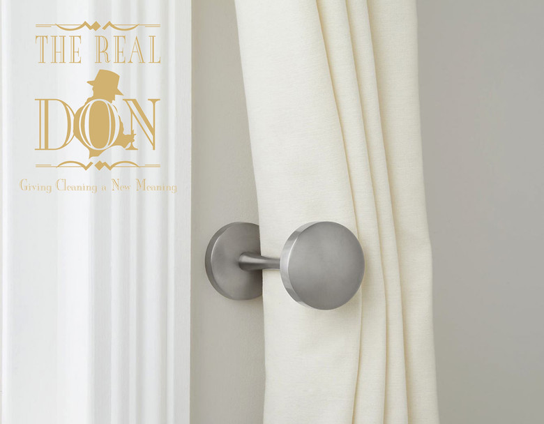 The Real Don explains the best way to clean curtain linings with rubber backing