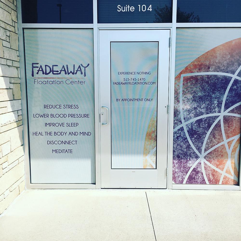 Fadeaway Flotation Center in West Des Moines
