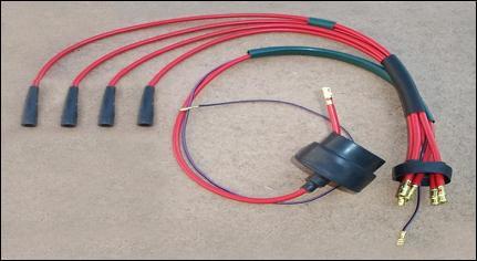 Cavi candele con cavo grosso schermato colore rosso A.R. spider-GT-GTV e berlina