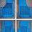 Thumbnail: Sovratappeti Fiat 500 e Bianchina in gomma base azzurra righe nere