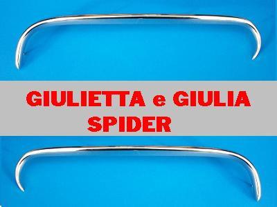 Baffi curvi cromati A.R.Giulietta spider dx e sx