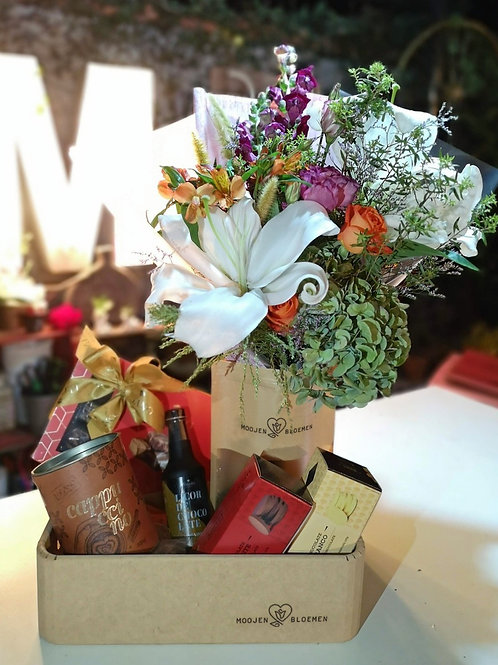 Kit Café Flor e Chocolate