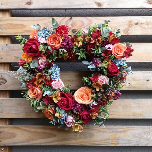 Coração Florido 40x40 cm