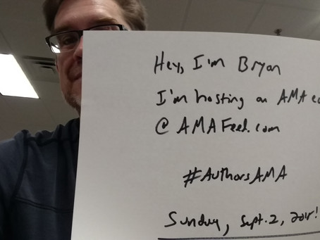 Hosting an AMA (ask me anything) even Sunday, September 2, 2018.