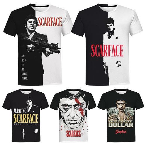 Scarface 3D Print T Shirt for Men, Women  Casual Tee Tony Montana Streetwear