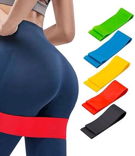 Custom Make Your Own Logo Bande De Resistance Long Latex Fabric Elastic Fitness
