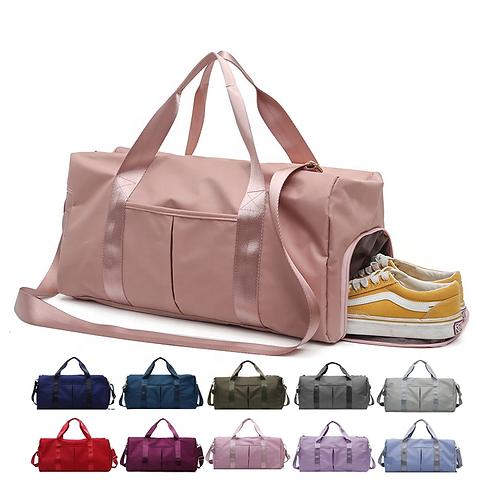 Dry Wet Separated Sport Duffel Holdall Training Yoga Travel Overnight Bag