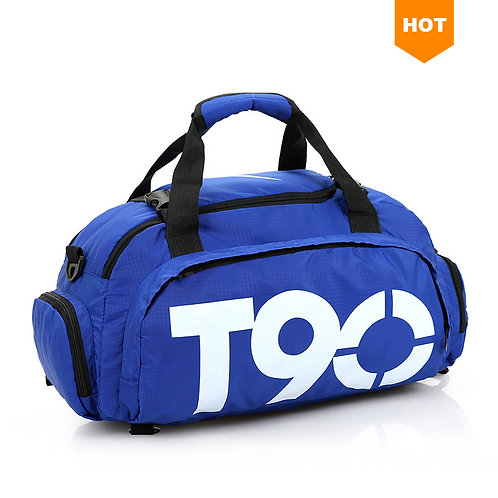 T90 Duffle Backpack Mens Travel Sport Bags With Shoe Compartment