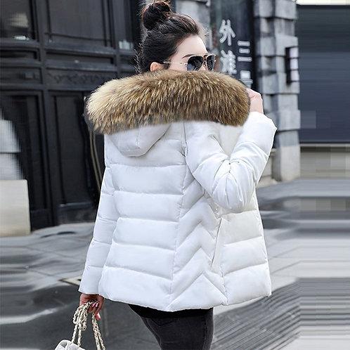 (WHITE ONLY) Winter Jacket Women Hooded Parka Coats Female Snow Wear Jacket Coat