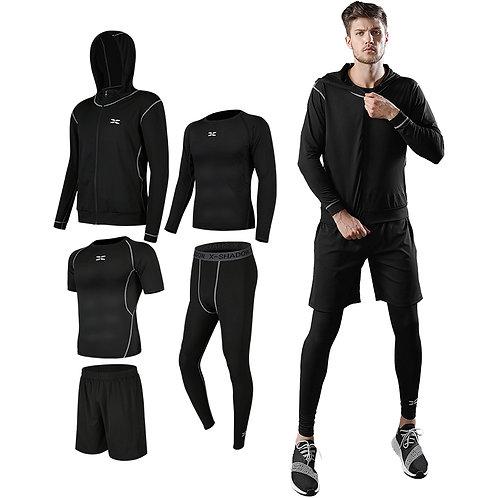 Running Fitness Clothing Sportswear shirts set Gym hoodies Sports Wear plus siz