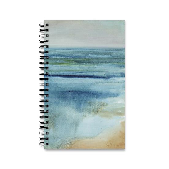 """Spiral Journal - Ocean Art - """"Prayer at Water's Edge"""""""