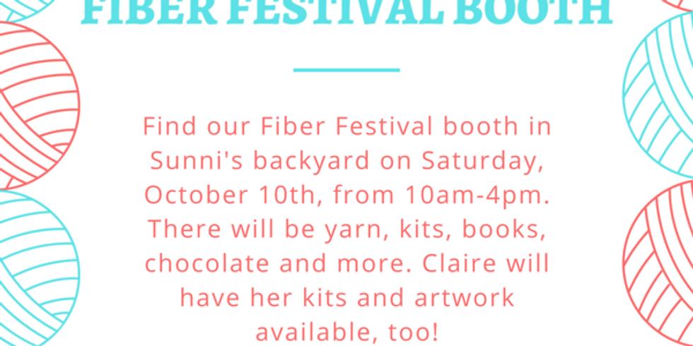 Fiber Festival Booth in Sunni's Backyard