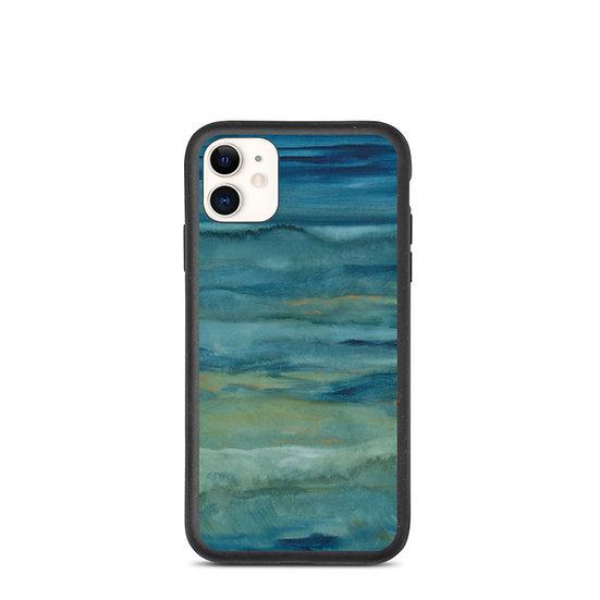 "Biodegradable iPhone case - Watercolor - ""Deep Calls to Deep"""