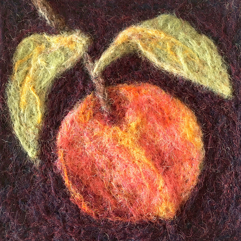 Painting with Wool 1 - Peach