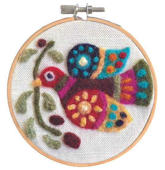 Needle Felting Kit - Peace on Earth Dove