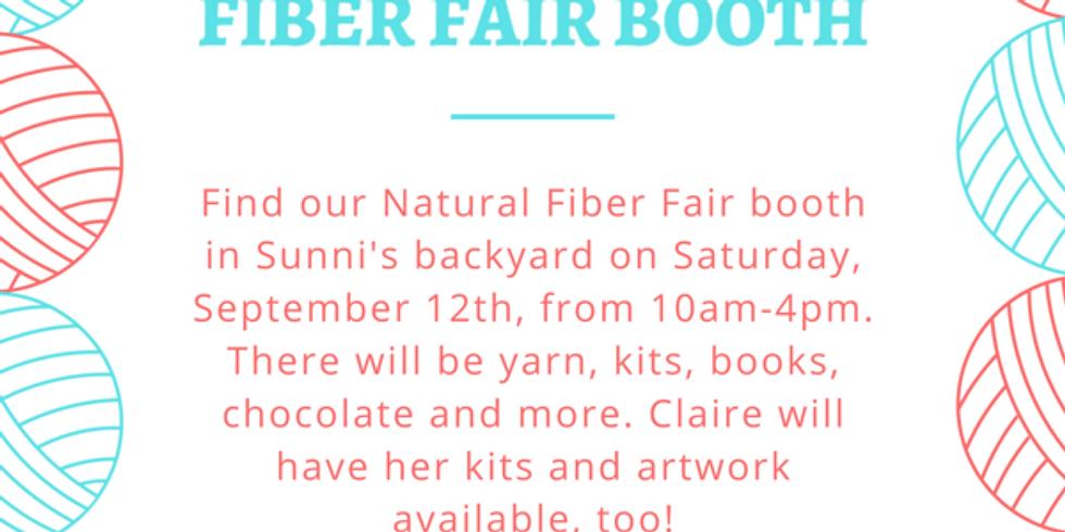 Backyard Fiber Fair Booth