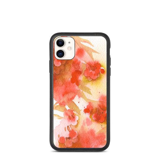 """Biodegradable iPhone case - Watercolor - """"Rowan Berries"""""""