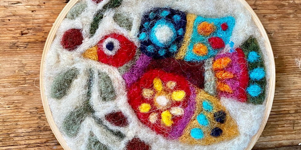 Craft Saturday on Zoom! Make a Needle Felted Ornament
