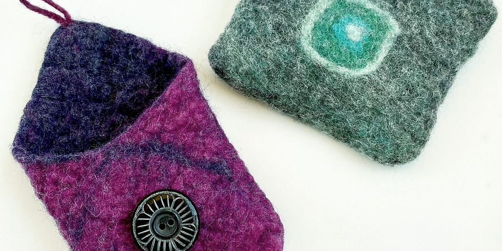 Learn to Make Felted Pouches!