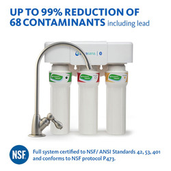 UNDER COUNTER WATER FILTER  3-STAGE MAX FLOW