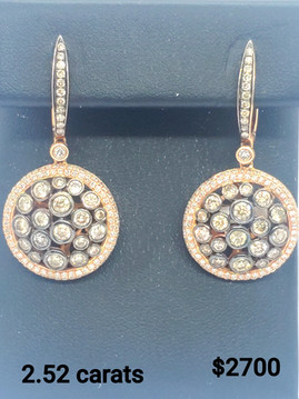 PC-2.52 carats Rose Gold & Champagne Dia