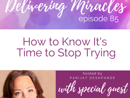 85: How to Know It's Time to Stop Trying with Dr. Maria Rothenburger