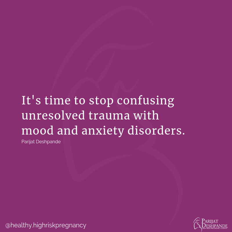trauma versus mood and anxiety disorders