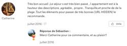 Commentaire de Catherine