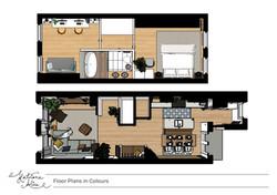 Sketch Colour Floor Proposed Plans