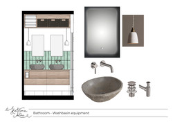 Washbasin Layout with Products