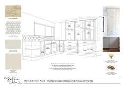 3D sketch for kitchen remodel