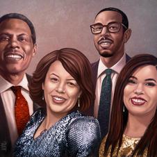 Mellion family, 2020 - portrait commission