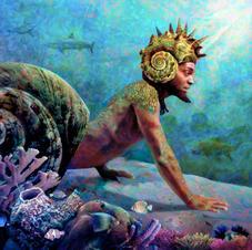 Olokun, 2014 - fantasy portrait commission
