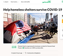 GoFundMe's campaign to help the homeless fight COVID-19