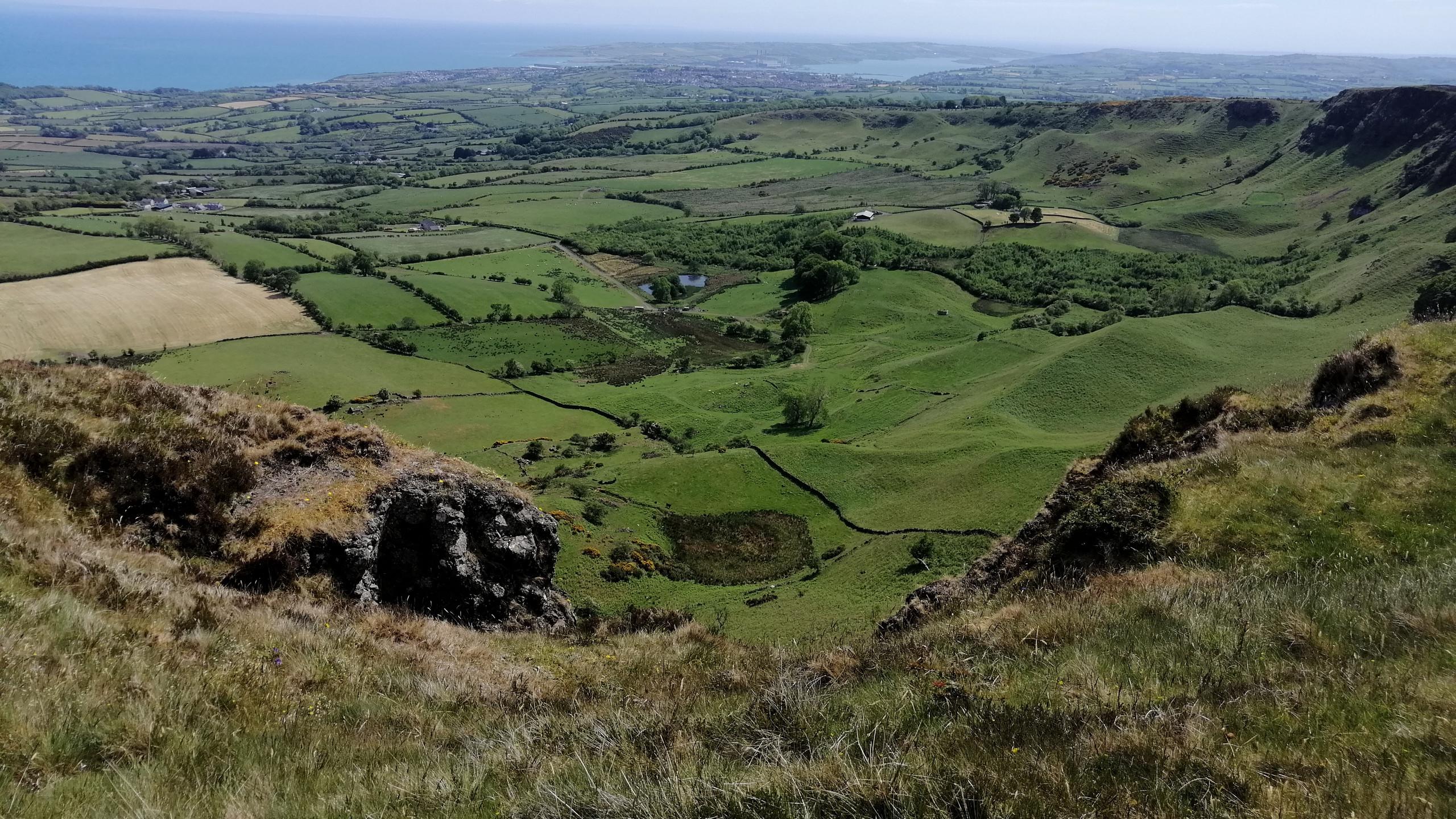 View Over Sallagh Cliffs
