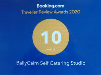 BallyCairn Studio Booking.com Guest Review Top Award!