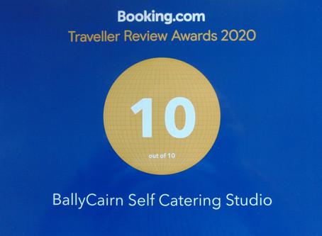 BallyCairn Studio Booking.com Guest Review Top Award!