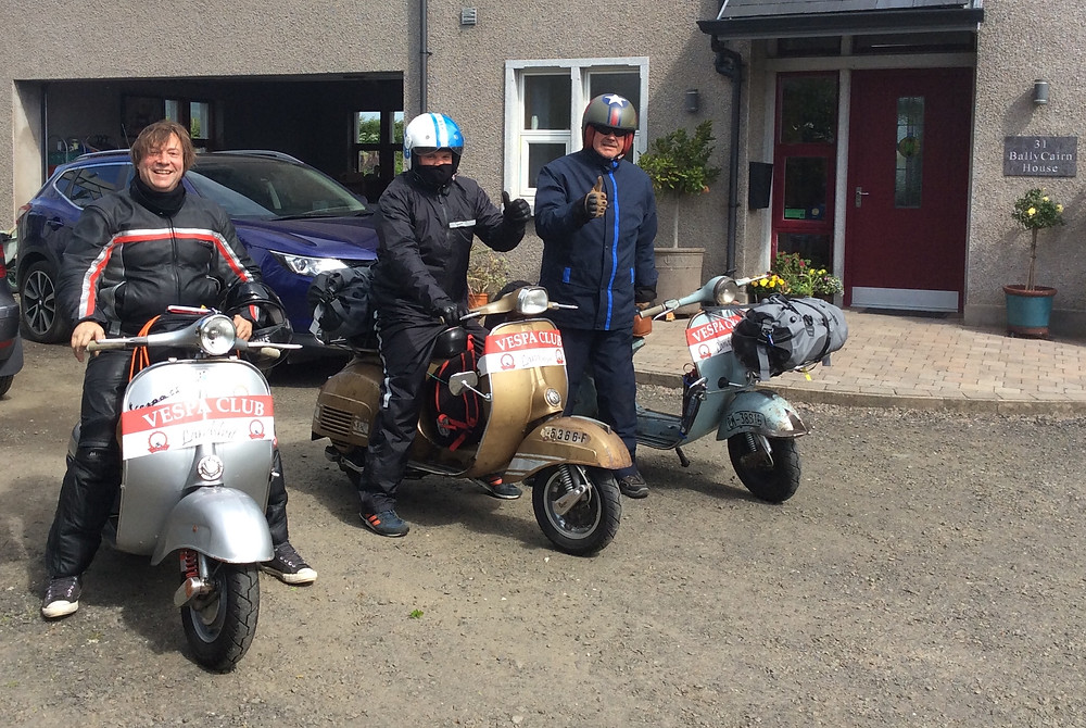 Delighted to host three proud Vespa owners from Germany taking part in the NI 2018 Vespa Rally.