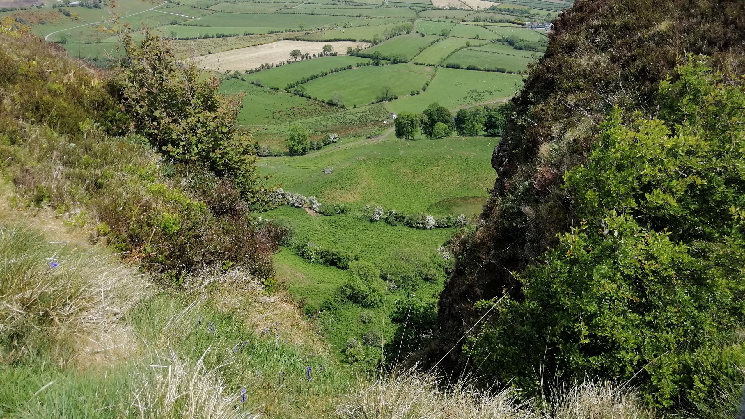 View through Sallagh Cliffs